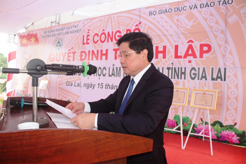Lễ Công bố Quyết định thành lập Phân hiệu Trường Đại học Lâm nghiệp tại tỉnh Gia Lai
