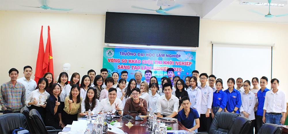 Kết quả sơ khảo cuộc thi Khởi nghiệp sáng tạo Lâm nghiệp trong học sinh, sinh viên Trường Đại học Lâm nghiệp năm 2020