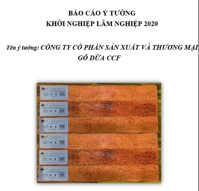 Sàn gỗ từ cây dừa đoạt giải nhất cuộc thi Khởi nghiệp sáng tạo Lâm nghiệp