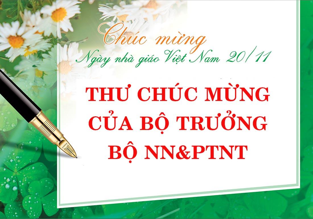 Thư chức mừng của Bộ trưởng Nguyễn Xuân Cường nhân ngày Nhà giáo Việt Nam 20/11/2020