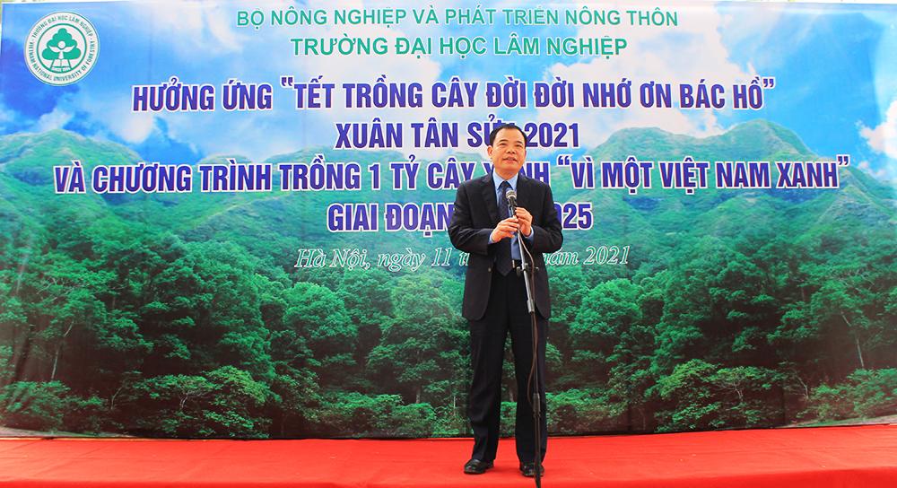 Đại học Lâm nghiệp tiên phong thực hiện phong trào trồng 1 tỷ cây xanh