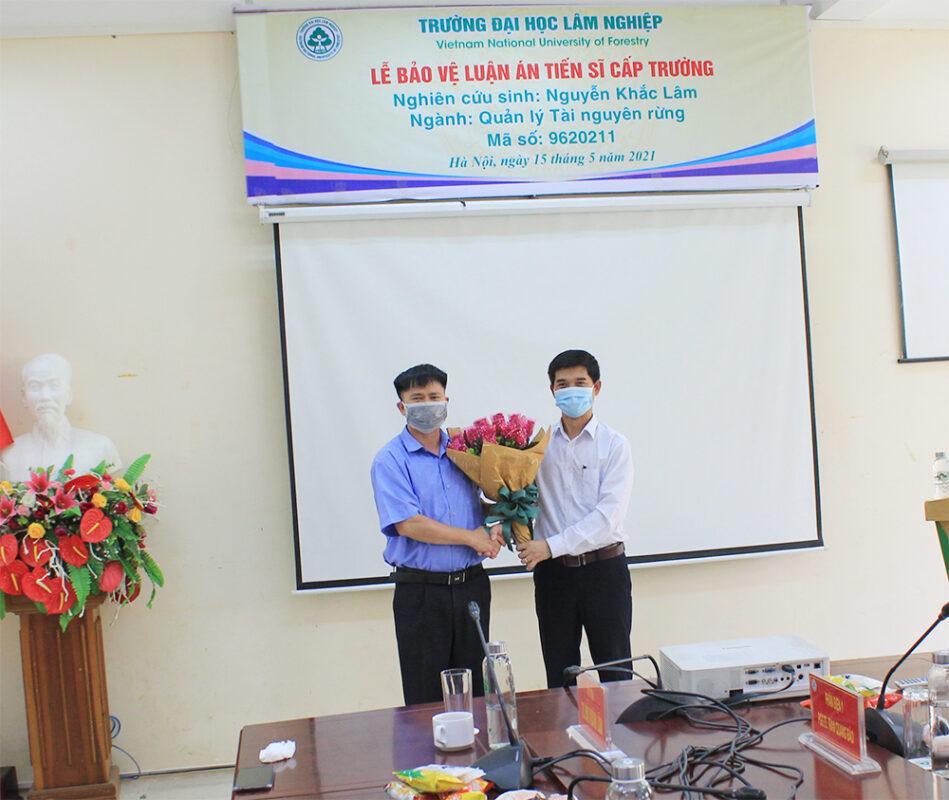 Lễ bảo vệ luận án Tiến sĩ cấp Trường của nghiên cứu sinh Nguyễn Khắc Lâm