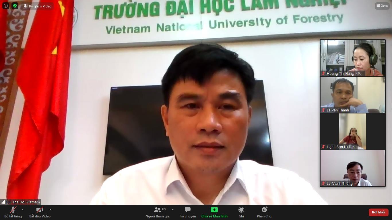 Hội thảo vai trò của chi trả dịch vụ môi trường rừng trong việc hỗ trợ khắc phục hậu quả của covid - 19 tại Sơn La, Việt Nam.